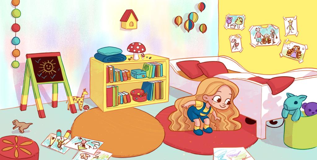 Christelle Ponche illustration chambre d'enfant